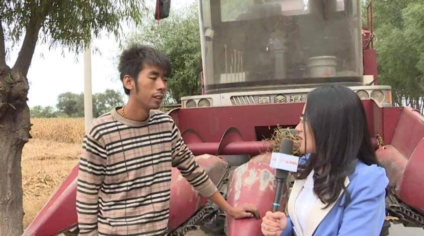 专访锦州市滨海新区娘娘宫镇农机手应成成