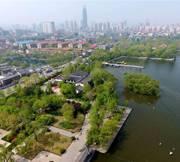 俯瞰济南大明湖