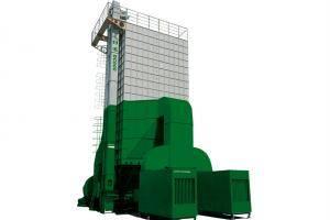"""""""谷王""""DC600/DC1000型循环式谷物烘干机,是国内首创大吨位干燥机,它具有机体牢固、装载量大、干燥速度快、谷物干燥均匀等特点。采用低速转、大直径上下输送装置,极大减少谷物破碎率增值;提升机主动轮采用表面覆胶工艺,线速度在2m/s左右;干燥面积大、多粮道干燥,确保谷物平均降水率在0.8-1.2个水分点;提高网孔板的孔位利用率,使得热风穿透面积加大,提高谷物干燥均匀度。"""