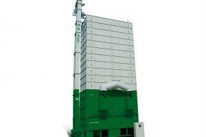"""""""谷王""""DC300型循环式谷物烘干机,用于烘干稻、麦、油菜籽、玉米、大豆等及其种子。该机型大吨位干燥设备,采用双向交叉干燥,扩大干燥层面积,通过谷物分流可调节装置,均匀干燥谷物,提高了干燥效率,同时给用户节省了占地面积。"""