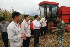 海南农民同公司人员交流。