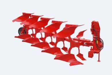 东方红纳迪1LF-545液压翻转犁,是中国一拖与意大利纳迪公司联合开发的为大马力拖拉机配套使用的机具产品。该机具整机性能处于世界先进水平,具有牵引稳定性好、翻土效果好、碎土率高、耕深稳定、杂草覆盖率高等性能。