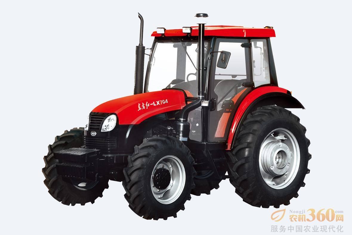 东方红LX704轮式拖拉机,是一拖公司在吸收国外先进技术的基础上,自行开发的四轮驱动轮式拖拉机。