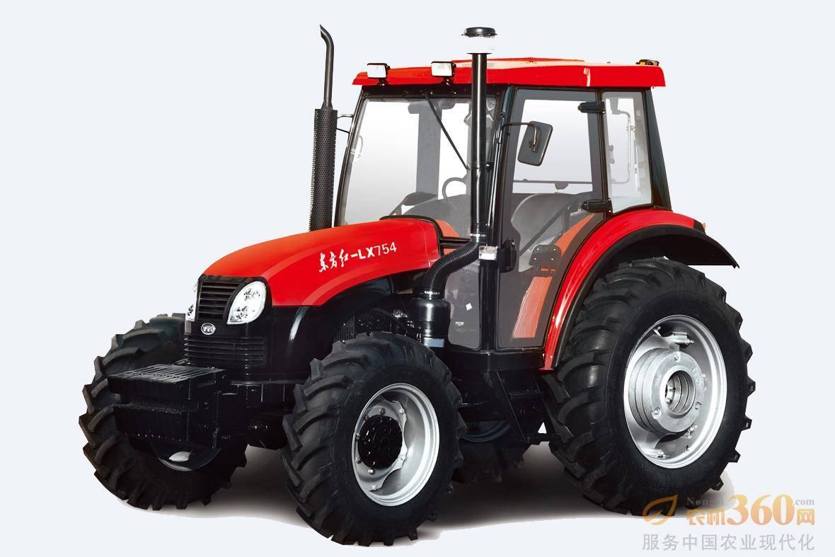东方红LX754轮式拖拉机,是一拖公司在吸收国外先进技术的基础上,自行开发的四轮驱动轮式拖拉机。