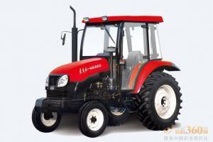 东方红MK650轮式拖拉机,驱动方式为两驱,65马力,动力输出轴转速540、720、1000r/min;额定牵引力15.5KN,额定提升力≥11.5KN;前进速度范围为2.45-39.82km/h。