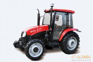 东方红MK654轮式拖拉机,驱动方式为四驱,65马力,动力输出轴转速540、720、1000r/min;额定牵引力16.8KN,额定提升力≥11.5KN;前进速度范围为2.45-39.82km/h。
