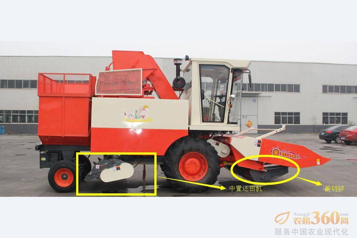 还田装置:前切碎、中还田,一次完成,满足用户耕种要求。 圆轴式前切器,不堵塞,切断效率高。