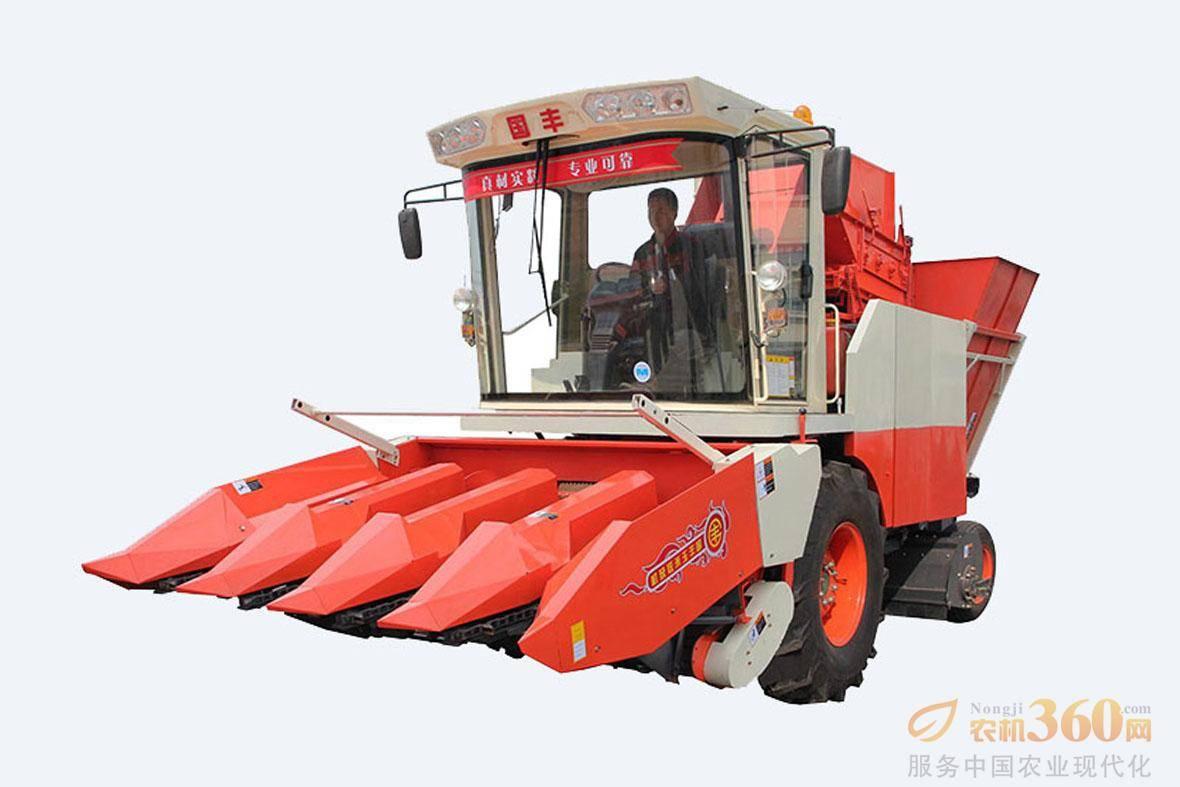国丰4YZP-4D型自走式玉米收获机。