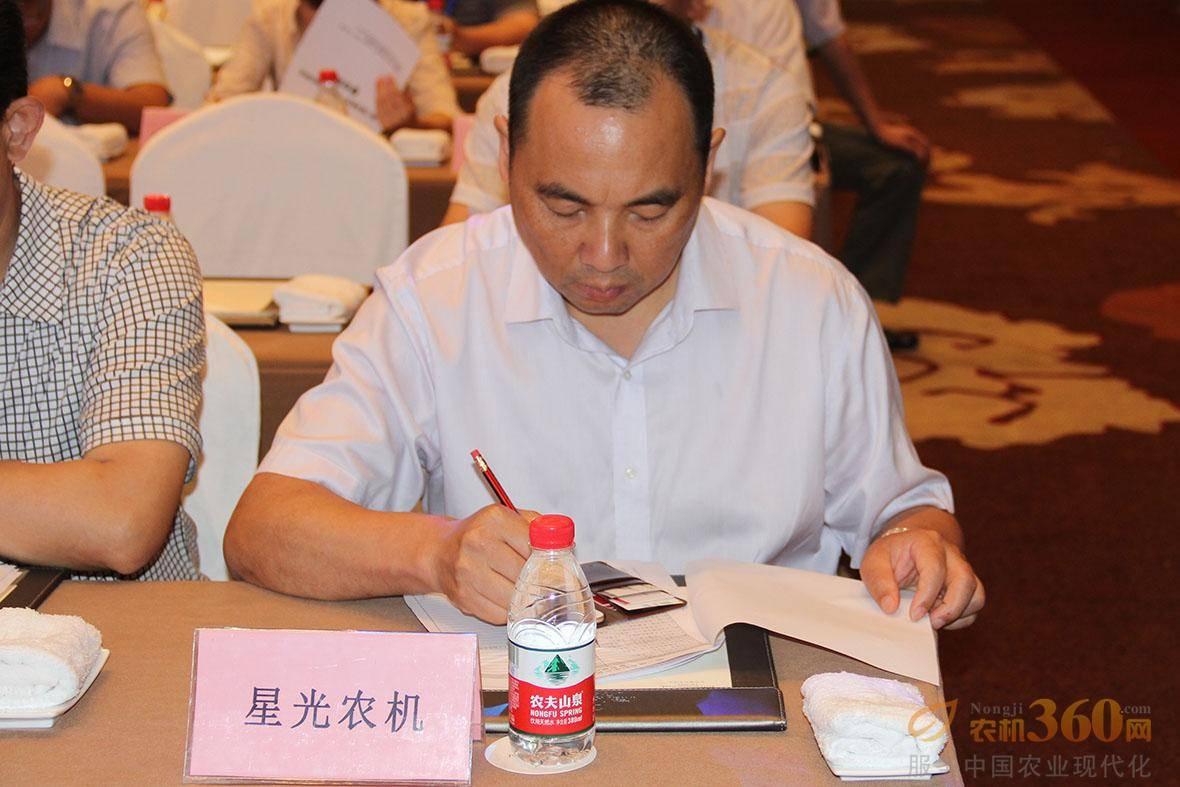 星光农机股份有限公司董事长章沈强。