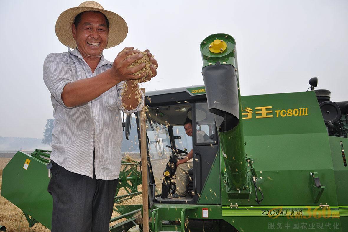 谷王小麦机助力湖北农民喜获丰收。