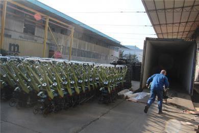 山东常林农装公司小农机产品出口再创新高