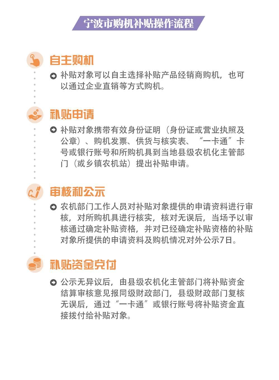 宁波市购机补贴操作流程