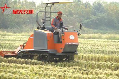 星光农机1GLX-200型履带自走式旋耕机作业图