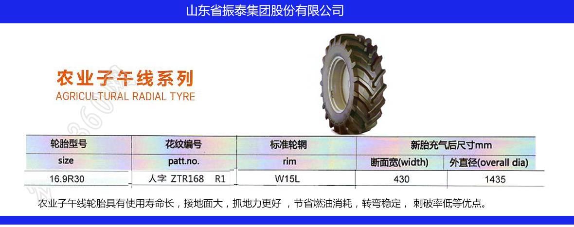 昱升16.9R30农业子午线轮胎