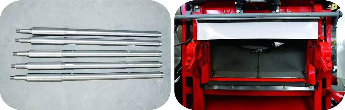 输送槽上轴和输送槽喂入口
